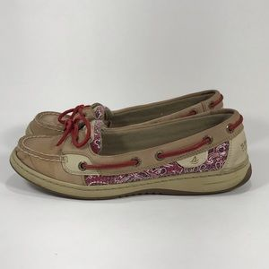 Sperry Top-Sider Red Bandana slip on shoes 8.5